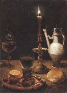 Gotthardt de Wedig-Still Life with Candle, first half of the 17th Century, Paris, Lourve