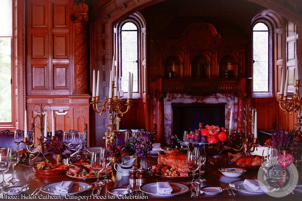 Banquet feast at Skibo Castle