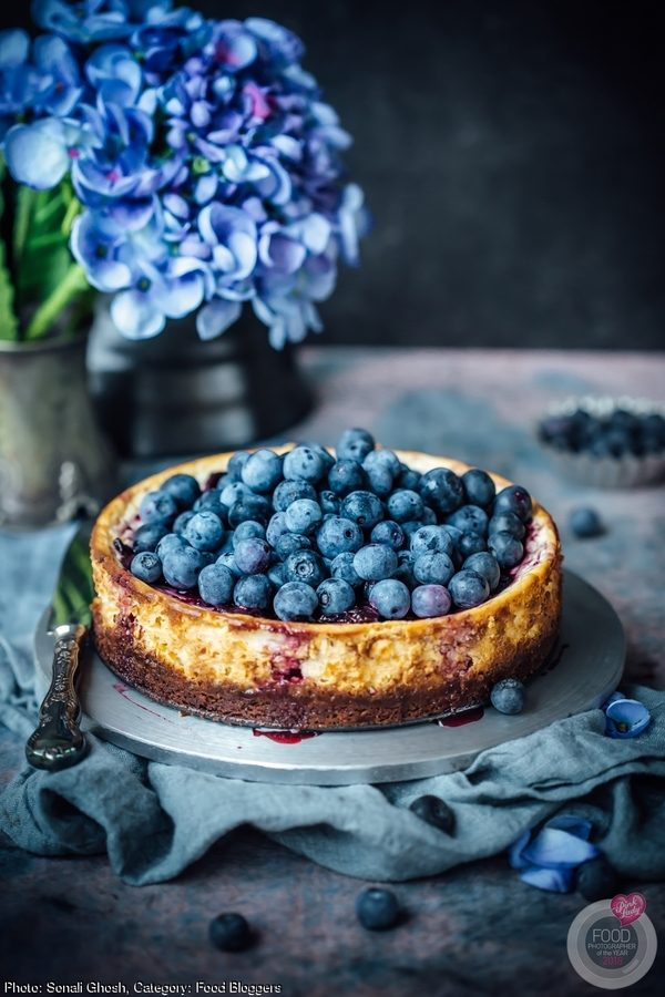 Skinny Blueberry Cheesecake