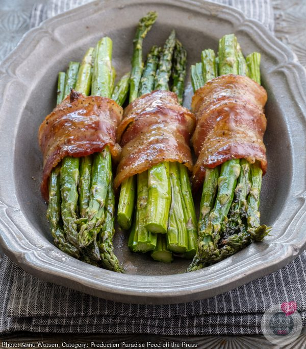 Caramelized Asparagus Wrapped in Bacon