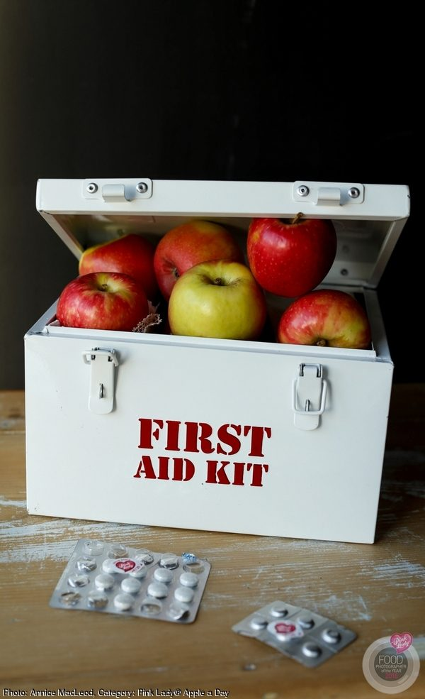 Apples in a First Aid box