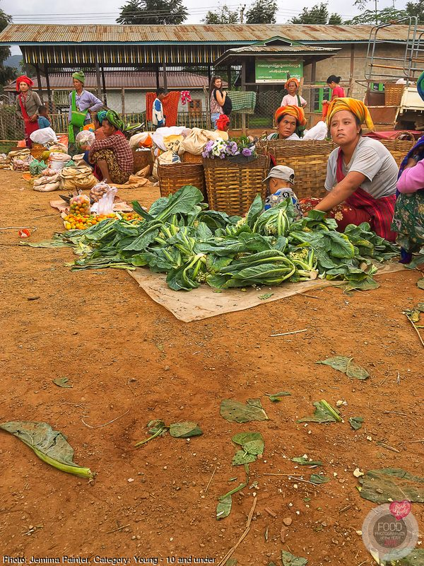 Colourful tribal market, Myanmar