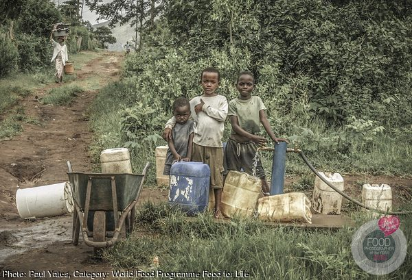 Children at the water tap, Nkomazi.