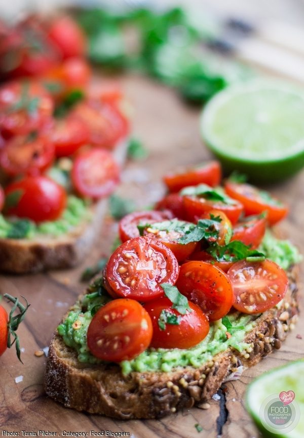 A humble toast with avocado & tomato salsa