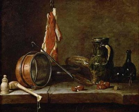 Jean-Baptiste-Simeon Chardin - The Meat Day Meal, 1731 history of food photography